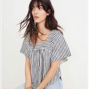 Madewell butterfly striped top